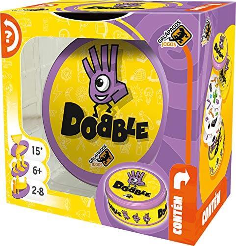 Caixa do jogo educativo de cartas Dobble Clássico, da Galapagos.