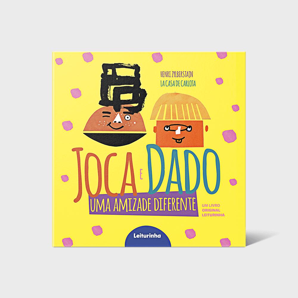 Capa oficial do livro Joca e Dado: uma amizade diferente
